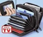Accordian Style Credit Card Wallet (Black) Reviews